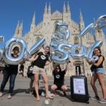 Italienische Jugendbotschafter forderten in Mailand ebenfalls, dass die Hälfte der weltweiten ODA an LDCs gehen sollte. Foto: ONE.