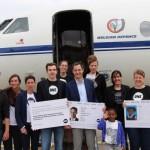 Belgische Jugendbotschafter trafen den stellvertretenden Ministerpräsidenten sogar noch kurz vor seinem Abflug nach Addis! Foto: ONE.