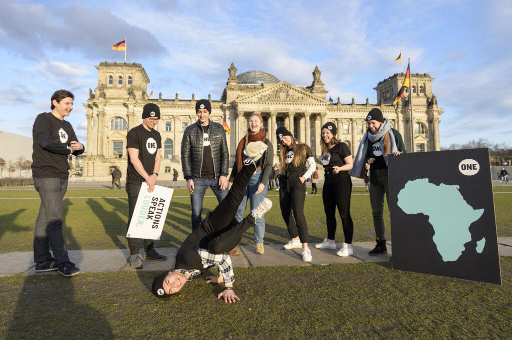 Spaß vor dem Bundestag - Kick Off 2020