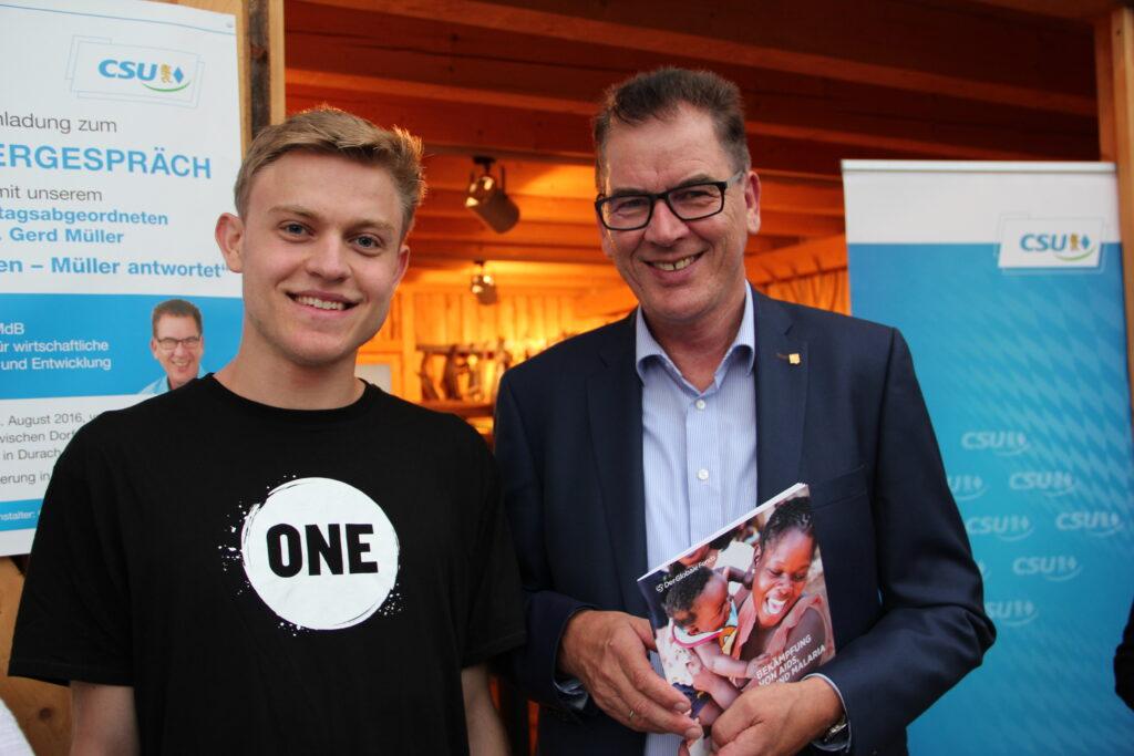 JuBo Justin mit Gerd Müller