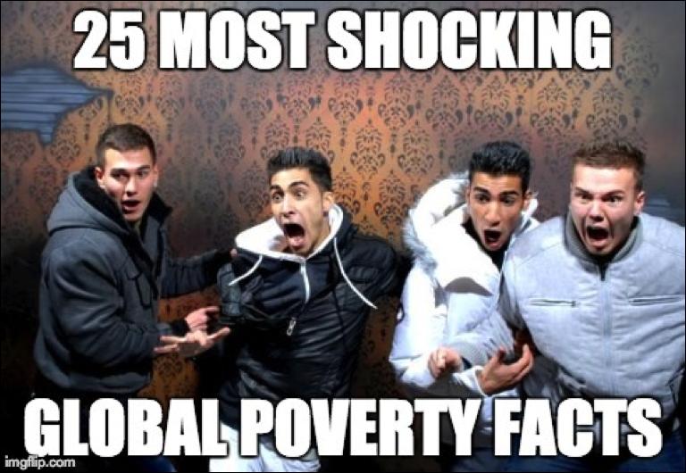 25 shockerende feiten over armoede wereldwijd
