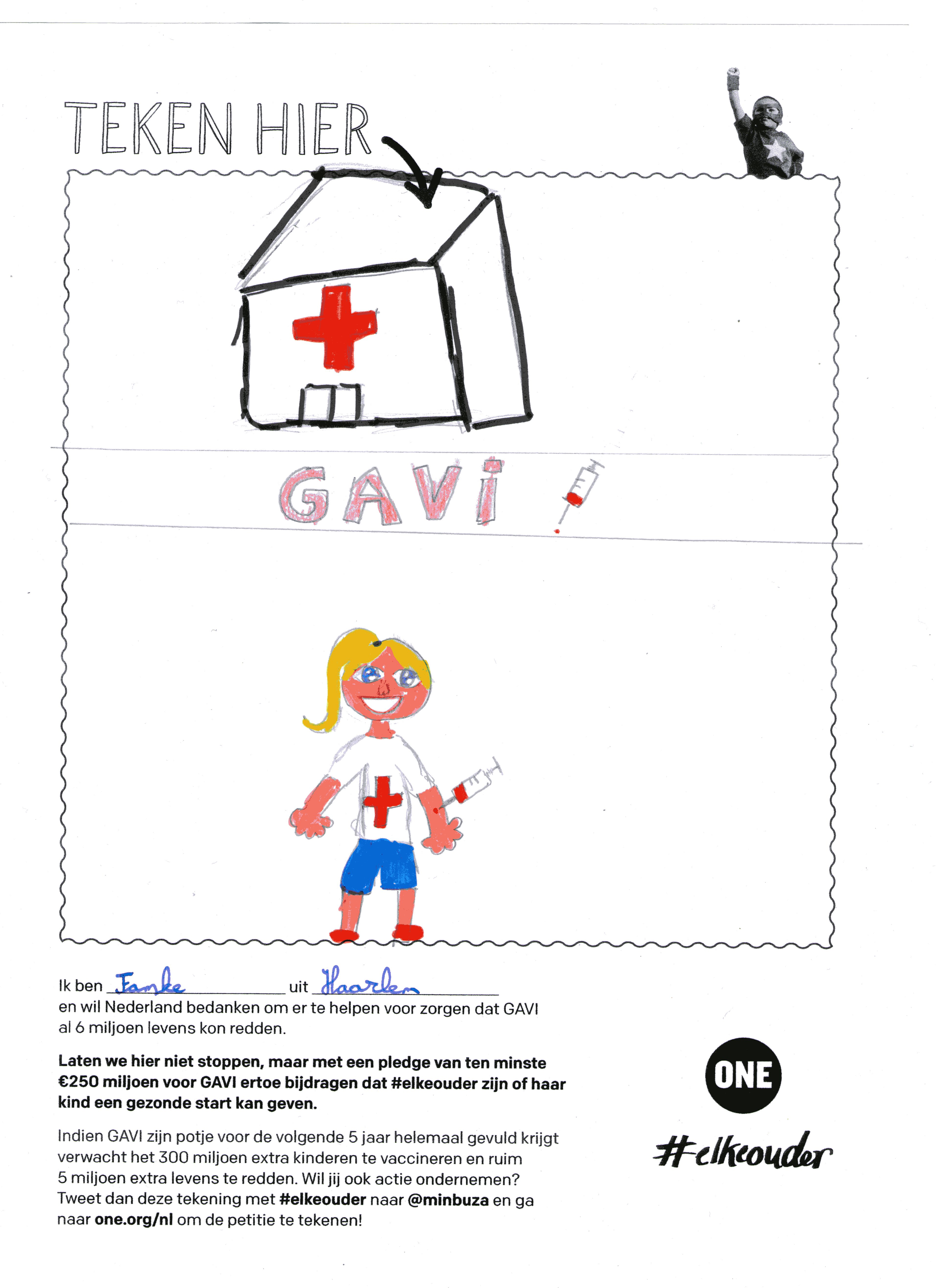 Tekening voor GAVI