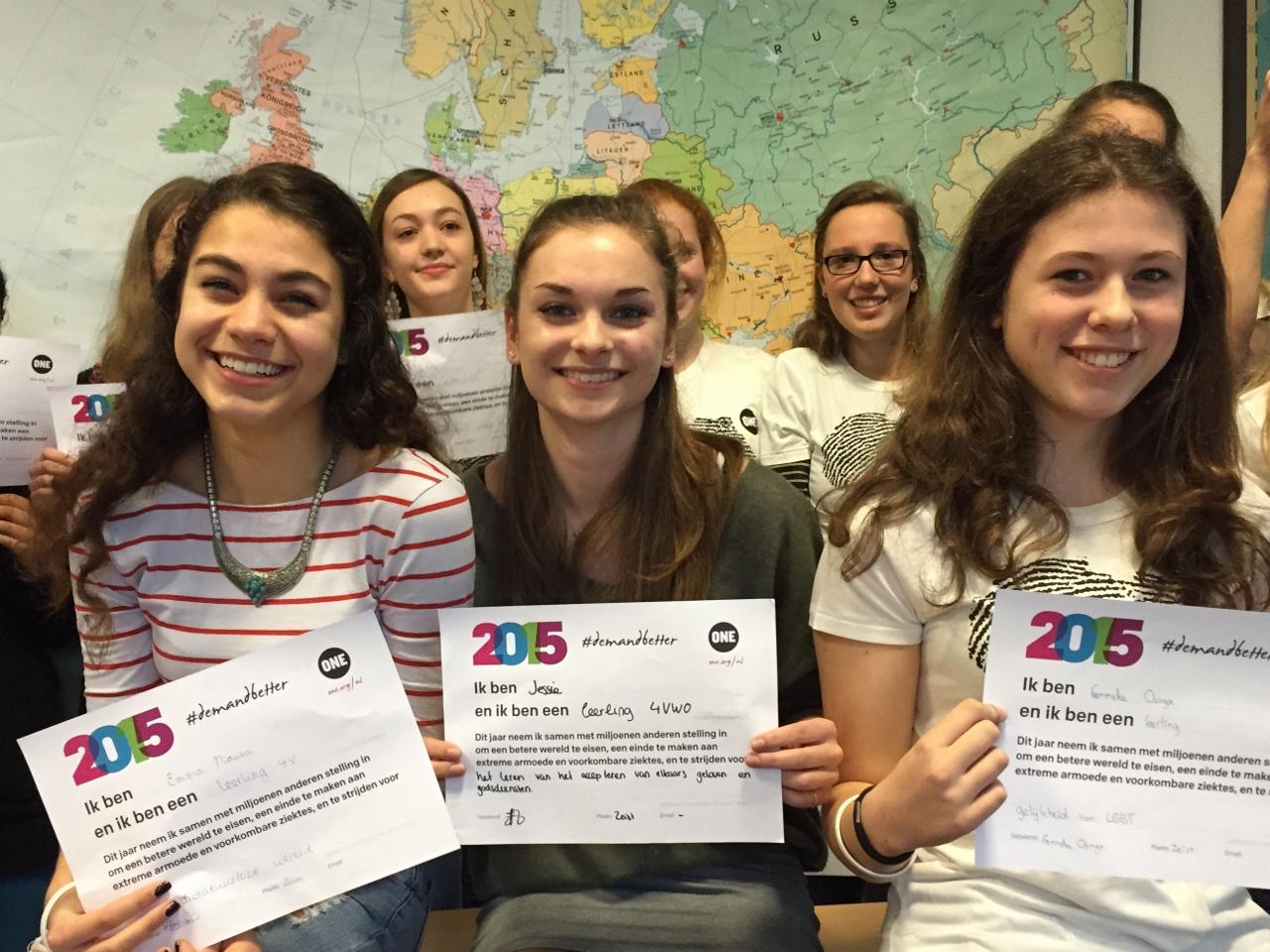 Leerlingen in Zeist eisen beter voor 2015