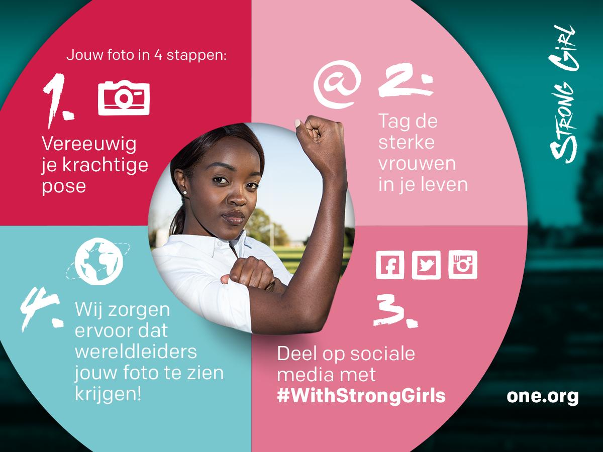 Actie #WithStrongGirls