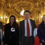 Les jeunes Ambassadeurs avec Michel Canevet, sénateur UDI du Finistère