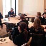 Les jeunes Ambassadeurs avec les députés PS Pascal Cherki, Fanélie Carrey-Conte et Olivier Faure