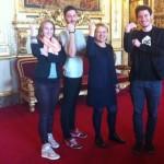 Les jeunes Ambassadeurs avec Brigitte Gonthier-Maurin, Sénatrice CRC des Hauts-de-Seine