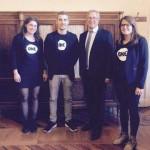 Les jeunes Ambassadeurs avec Michel Billout, sénateur CRC de la Seine-et-Marne
