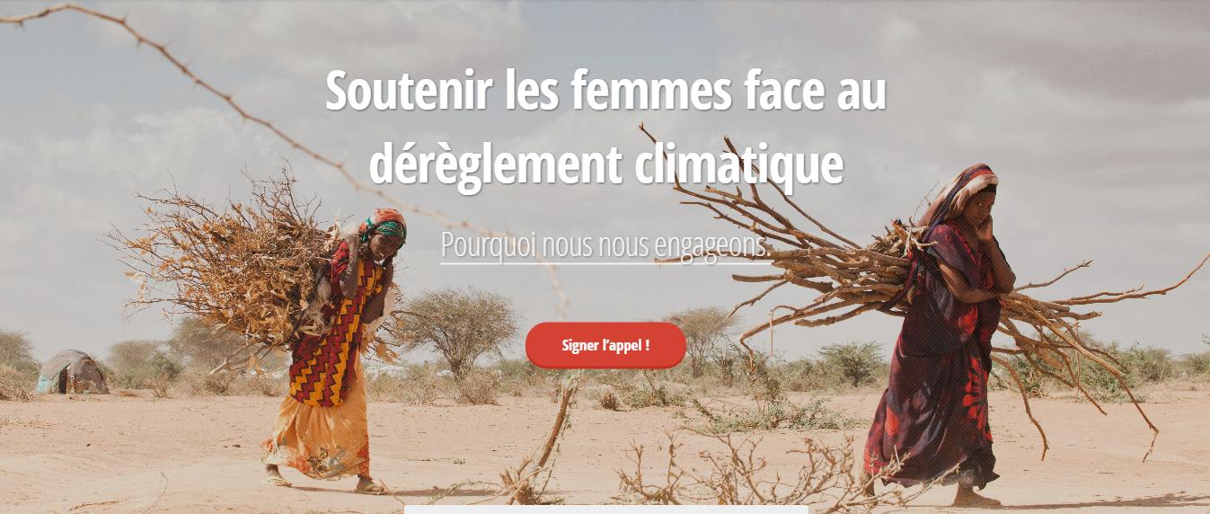 Soutenez les femmes face au changement climatique !