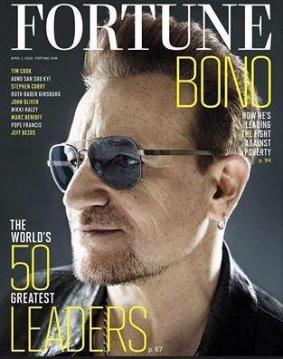 Le portrait de notre cofondateur Bono dans le magazine Fortune : les membres de ONE à l'honneur !