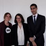 Mathilde Nicoli et Ismail Amrani avec Cécile Duflot, députée de Paris