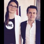 Mélanie Gohier avec Christophe Béchu, Maire d'Angers