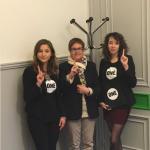 Joséphine Ifri et Estelle Berthaud avec Michelle Demessine, sénatrice du Nord