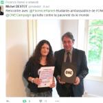 Florence Ramel avec Michel Destot, député de l'Isère