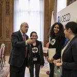 Avec Angel Gurria, Secrétaire général de l'OCDE Crédit photo : Julien Daniel / OECD