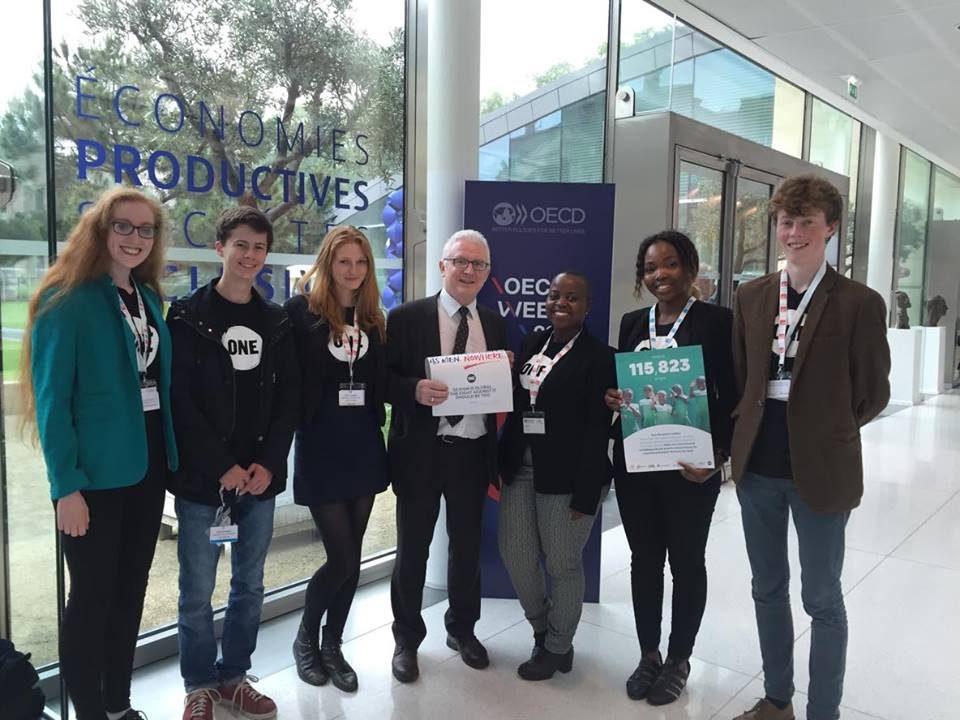 Irish Youth Ambassadors with Ambassador Michael Forbes