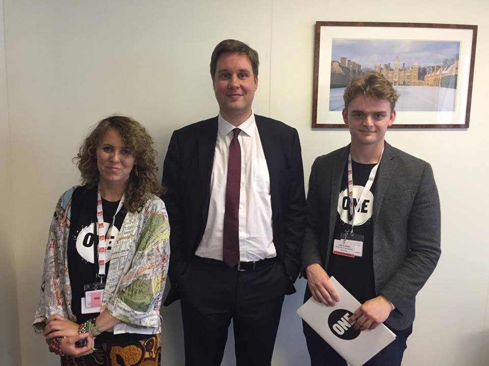 Dannee and Olly with Ambassador Christopher Sharrock at OECD