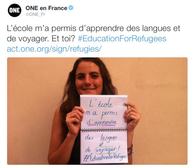 #EducationForRefugees : à vos stylos !