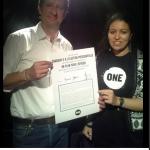 Yannick Jadot a été le premier candidat à signer le manifeste de ONE, le mercredi 12 octobre 2016