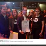 Benoit Hamon a signé le mardi 18 octobre à Paris