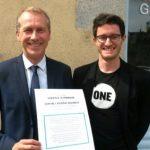 Le député NG Guillaume Garot et notre jeune Ambassadeur Thomas