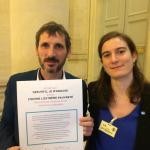 Le député REM Matthieu Orphelin et notre responsable plaidoyer Maé