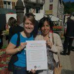 La députée NG Christine Pirès Beaune accompagnée de notre jeune Ambassadrice Anne-Claire