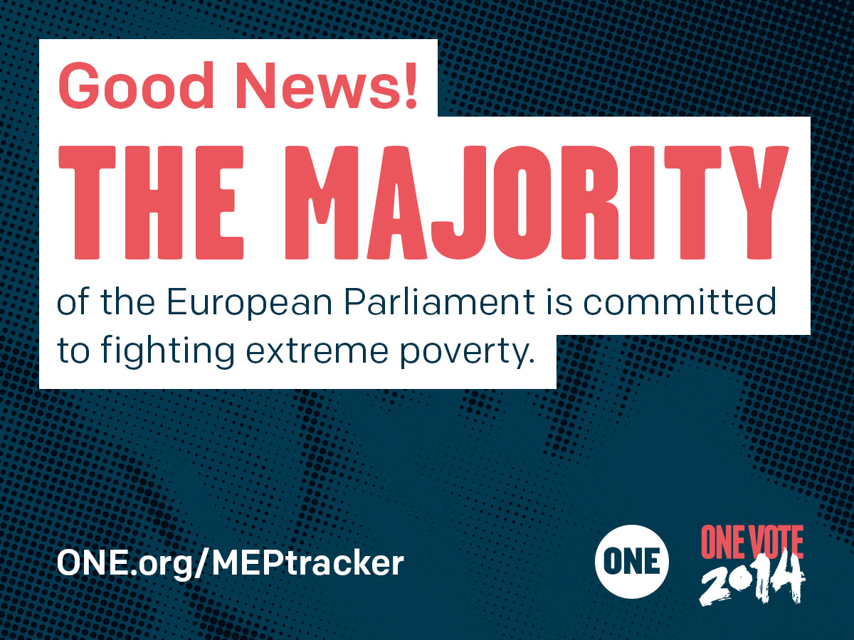 You did it! The majority of the European Parliament commits to fighting extreme poverty
