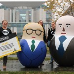 The ONE team in Germany visited the Chancellery in Berlin to hand over the signatures calling on Chancellor Merkel to stand up to money laundering and stop the Trillion Dollar Scandal.  Photo: ONE
