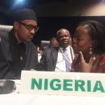 President Muhammadu Buhari, Nigeria, with ONE Africa Director Dr. Sipho Moyo.  Photo: ONE
