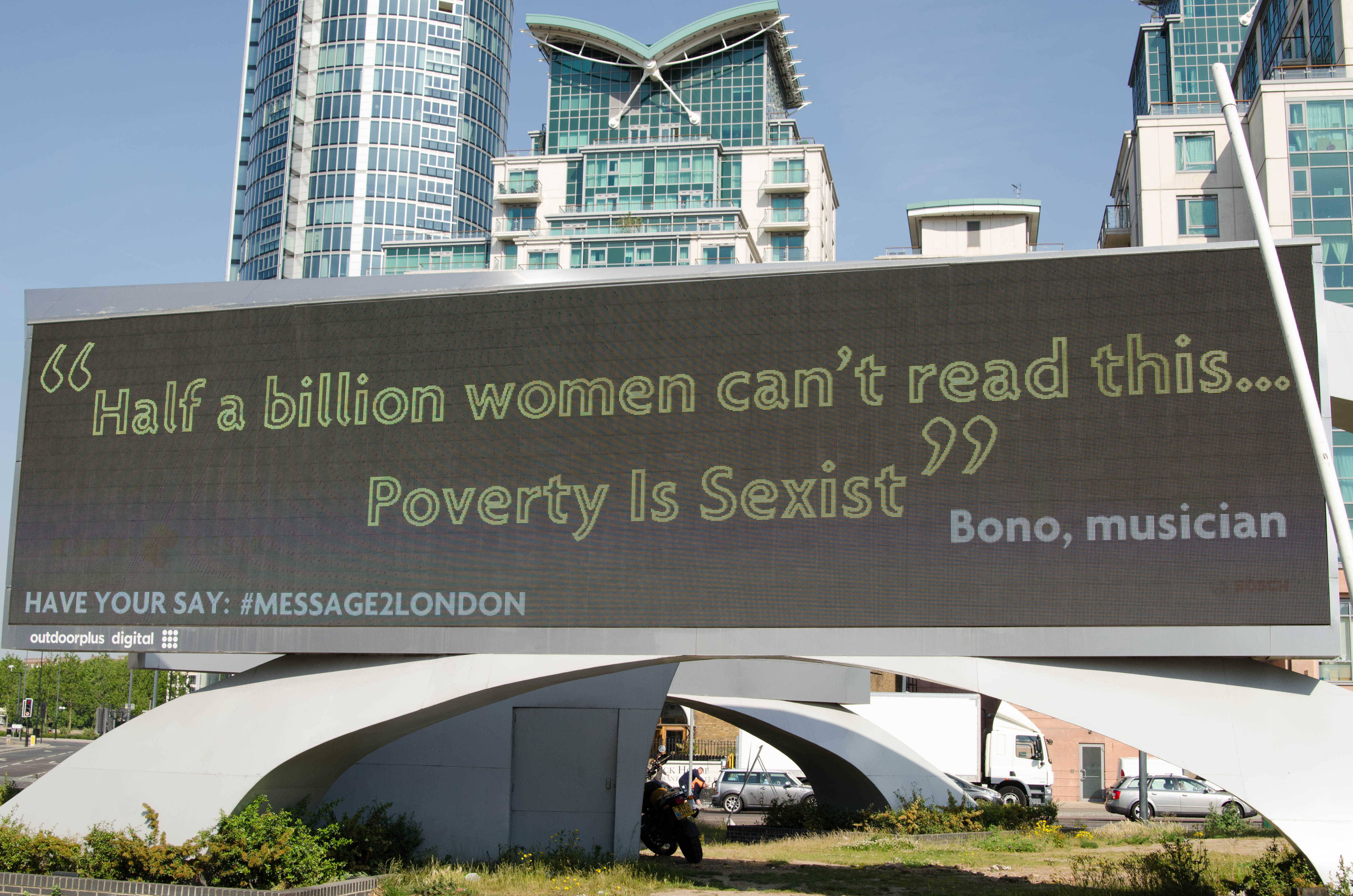 Bono's #message2london: Poverty is Sexist