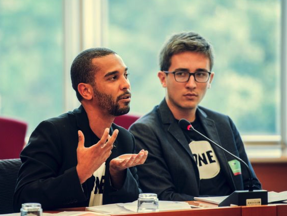 ONE Youth Ambassadors speak at the European Parliament.