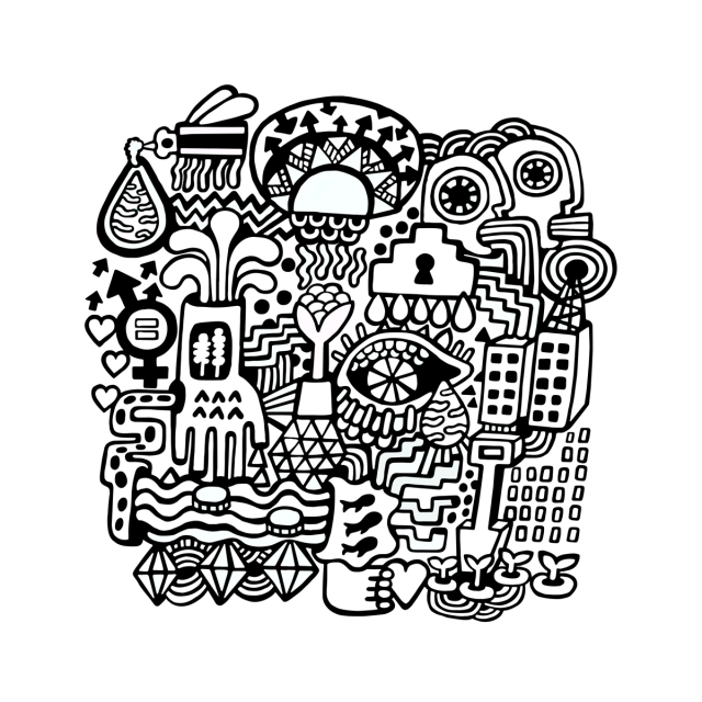 Take a break with a ONE colouring page!