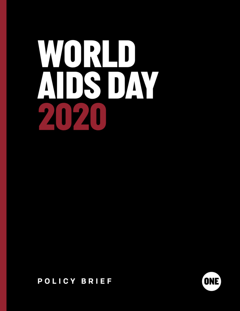 World AIDS Day 2020 policy brief cover