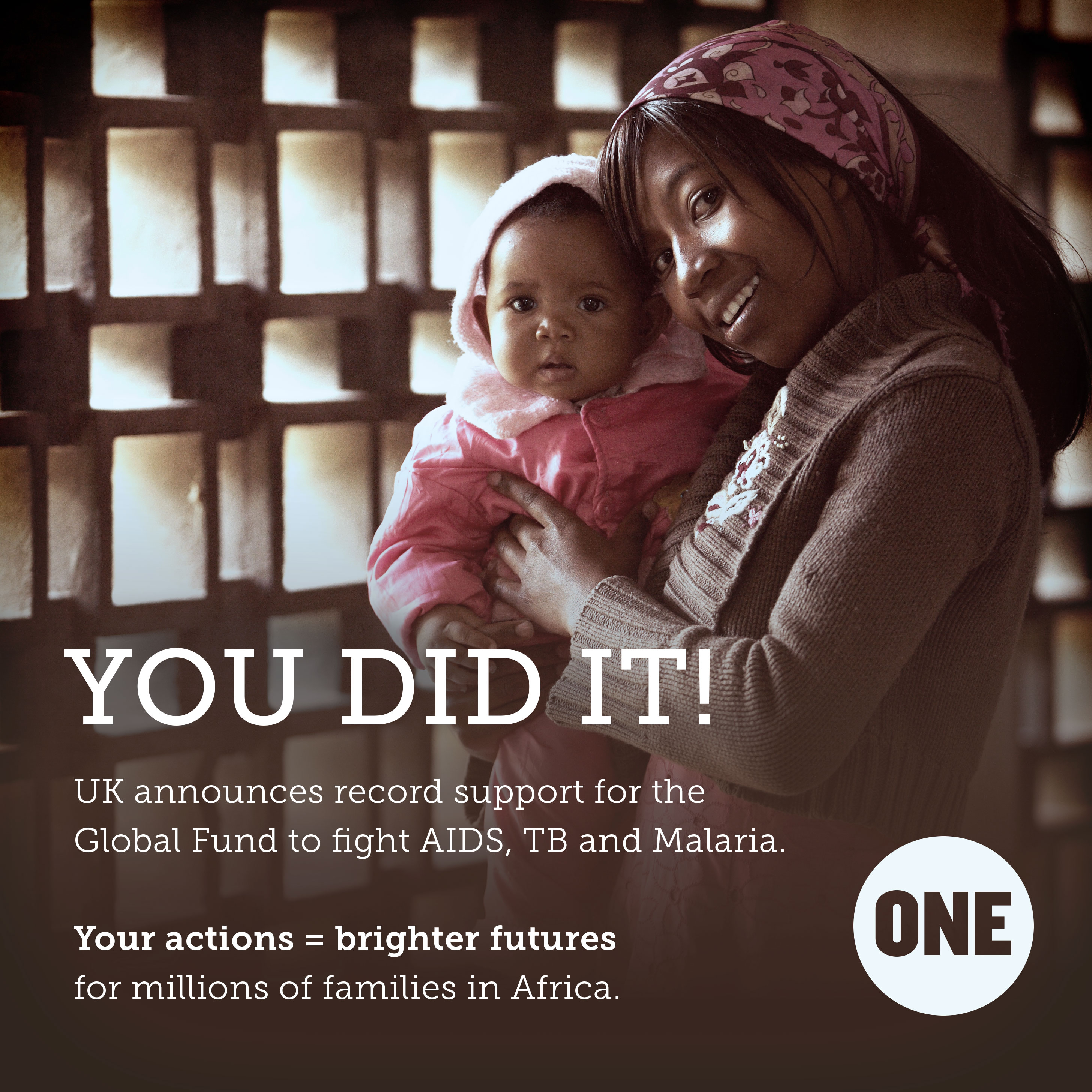 You asked the UK to step up their support for the Global Fund. They really did.