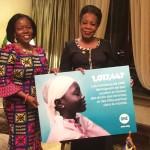 President Catherine Samba-Panza van de Centraal Afrikaanse Republiek met de ONE Afrika Directrice Dr. Sipho Moyo. Foto: ONE