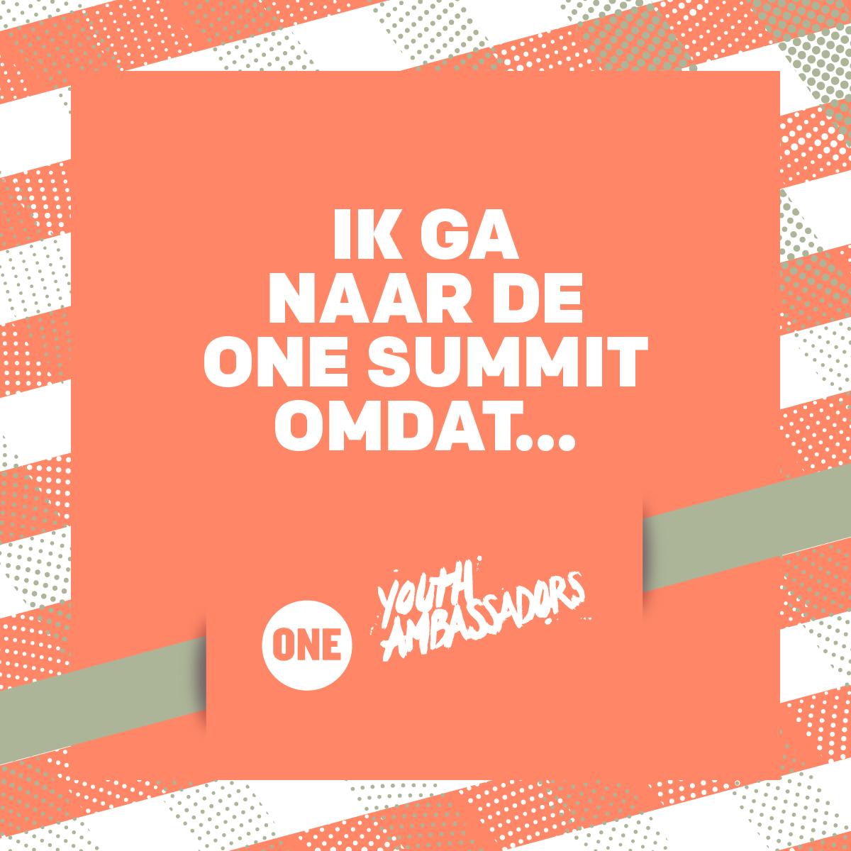Jeugdambassadeurs gaan naar de ONE Summit in Parijs!
