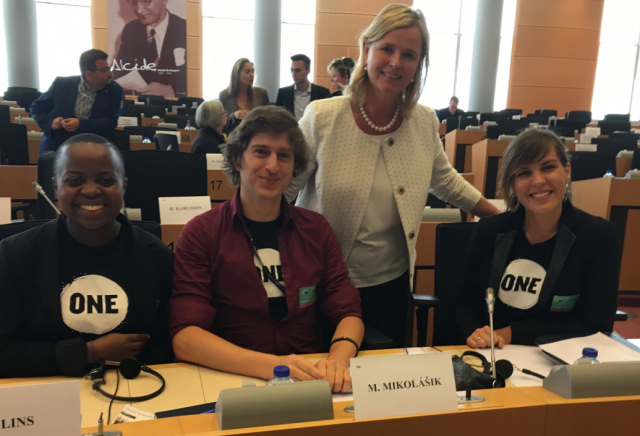 ONE Youth Ambassadors at the European Development Days 2016