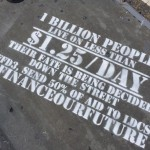 ONE members in the US used street graffiti to influence a UN meeting in New York. Photo: ONE