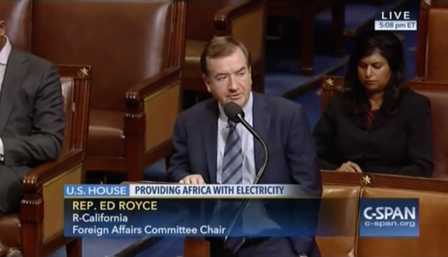 VIDEO: Watch the Electrify Africa Act pass the House